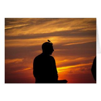 José en la puesta del sol tarjeta de felicitación