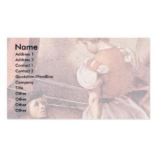 José en los detalles de Egipto de Pontormo Jacopo Tarjeta Personal
