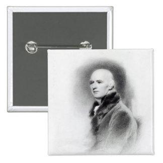 José Farington, grabado por Richard Evans Pin Cuadrada 5 Cm