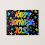 "[ Thumbnail: ""Jose"" First Name, Fun ""Happy Birthday"" Jigsaw Puzzle ]"