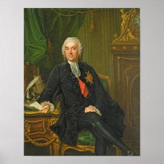 José-Francois Foulon después de 1760 Póster