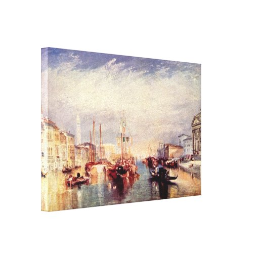 José Guillermo Turner - canal grande en Venecia Impresiones En Lienzo Estiradas