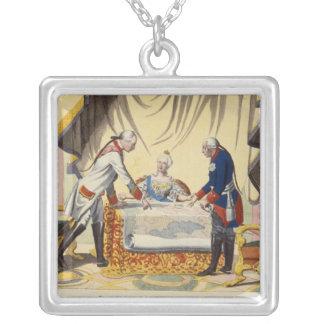 José II, Catherine The Great y Frederick II Colgante Cuadrado