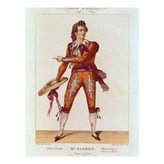 José Isidoro Samson en el papel de Figaro Tarjeta Postal
