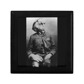 "José ""Juan"" Merrick Elephant Man a partir de 1889 Joyero Cuadrado Pequeño"