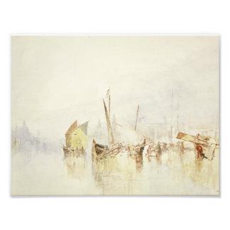 José Mallord Guillermo Turner - The Sun de Venecia Cojinete