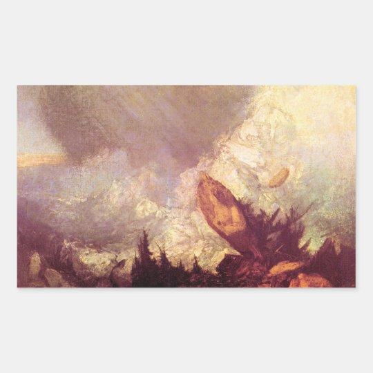 José Mallord Turner - avalancha Pegatina Rectangular