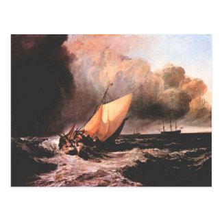 José Mallord Turner - barcos holandeses en un chub Tarjeta Postal