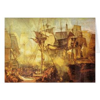 José Mallord Turner - batalla de Trafalgar Tarjeta Pequeña