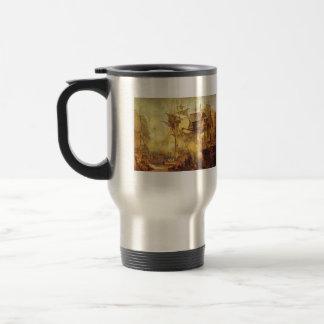 José Mallord Turner - batalla de Trafalgar Taza De Café