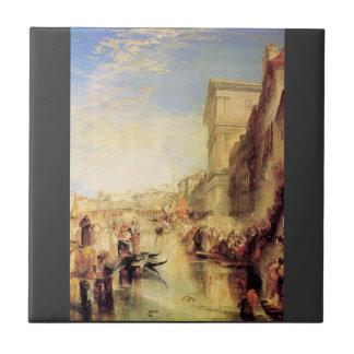 José Mallord Turner - el Gran Canal en Venecia Azulejo