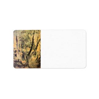 José Mallord Turner - maderas de abedul con los gi Etiquetas De Dirección