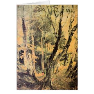 José Mallord Turner - maderas de abedul con los gi Tarjeta De Felicitación