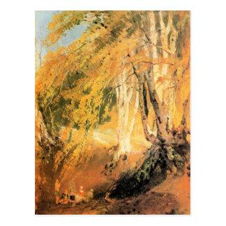 José Mallord Turner - maderas de haya con los gita Tarjetas Postales