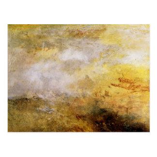 José Mallord Turner - mar tempestuoso con los delf Tarjetas Postales