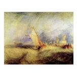 José Mallord Turner - naves en el mar Postales