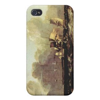 José Mallord Turner - naves que van al ancladero iPhone 4 Funda
