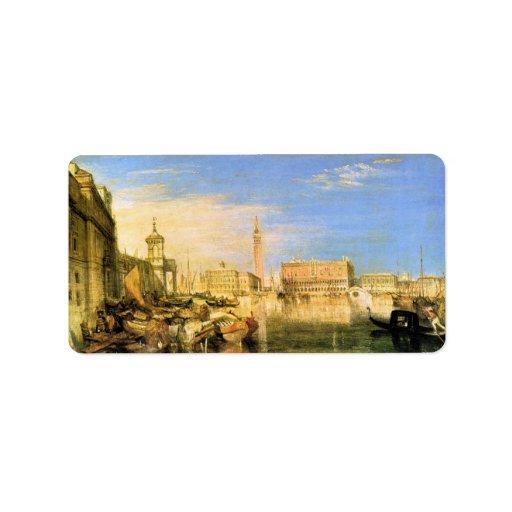 José Mallord Turner - puente de suspiros - Venecia Etiqueta De Dirección