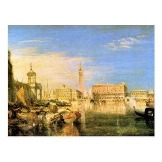 José Mallord Turner - puente de suspiros - Venecia Tarjetas Postales
