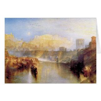José Mallord Turner - Roma antigua; La de Agrippin Tarjeta Pequeña