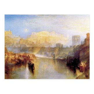 José Mallord Turner - Roma antigua; La de Agrippin Tarjeta Postal