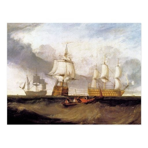 José Mallord Turner - victoria en Trafalgar Postal