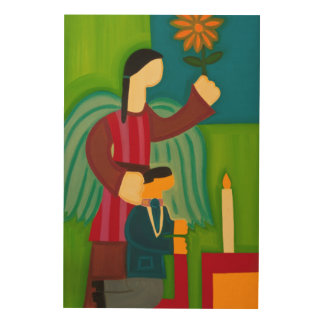 Jose Maria y su Angel 2009 Wood Print