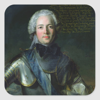 José-Marie Duc de Boufflers Pegatinas Cuadradas