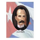 Jose Marti en bandera cubana Tarjeta Postal