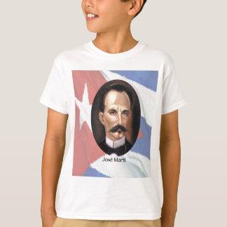 Jose Marti on Cuban Flag T-Shirt