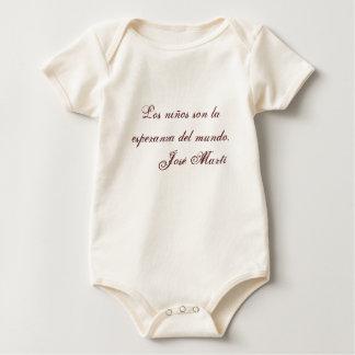 Jose Marti Poetry baby clothing 1 (beige) Baby Bodysuit