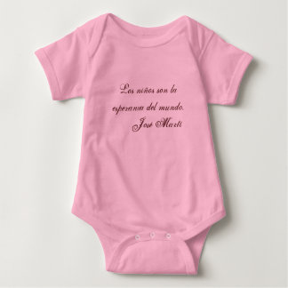 Jose Marti Poetry baby clothing 1 (pink) T-shirt
