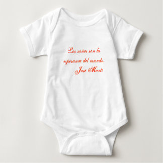 Jose Marti Poetry baby clothing 1 (white) Baby Bodysuit
