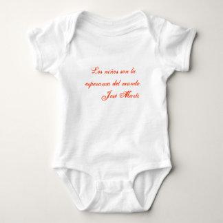 Jose Marti Poetry baby clothing 1 (white) Baby Bodysuit