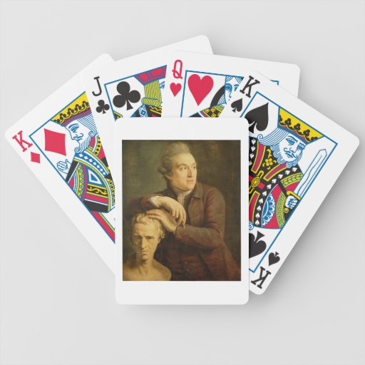 José Nollekens (1737-1823) con su busto de Laur Baraja Cartas De Poker