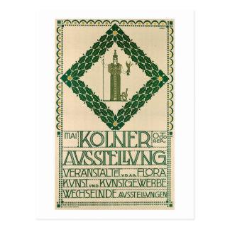 José Olbrich, Kolner Ausstellung, vintage 1907 Tarjeta Postal
