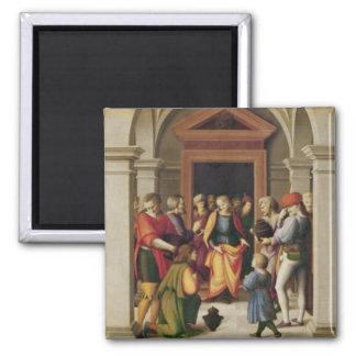 José recibe a sus hermanos, C. 1515 Imán Cuadrado