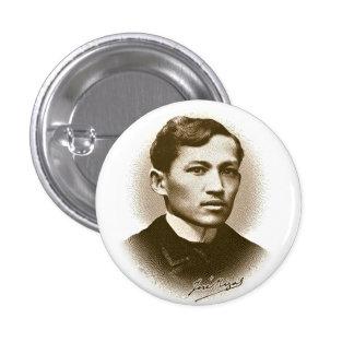 Jose Rizal (impresión de la sepia) Pins