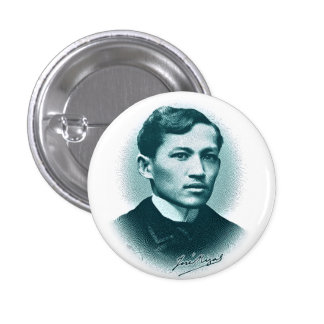Jose Rizal impresión verde Pins