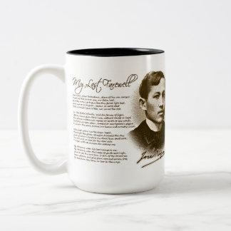 Jose Rizal mi adiós pasado Taza De Café