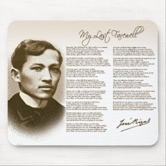 Jose Rizal My Last Farewell Mouse Pad