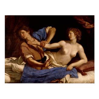 José y la esposa de Potiphar, c.1649 Postal