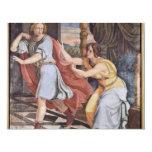 José y la esposa de Potiphar de Veit Philipp Invitación 10,8 X 13,9 Cm