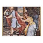 José y la esposa de Potiphar de Veit Philipp Tarjetas Postales