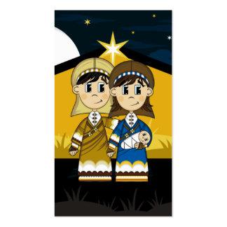 José y Maria por la señal del granero de la Tarjetas De Visita