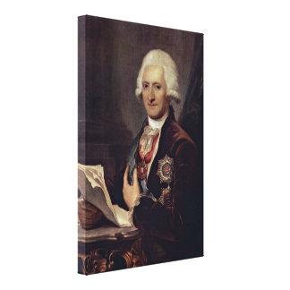 Josef Grassi - Count Johann Jakob Sievers Canvas Print