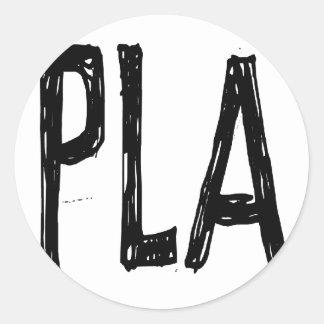 Josep Pla Classic Round Sticker