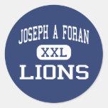 Joseph A Foran - Lions - High - Milford Classic Round Sticker