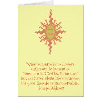 Joseph Addison Smile Quote Card