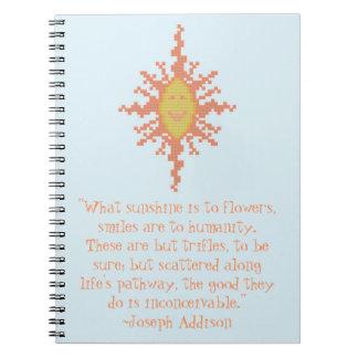 Joseph Addison Smile Quote Notebook